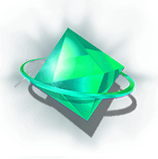 Ticket to the stars slot - Green gem symbol