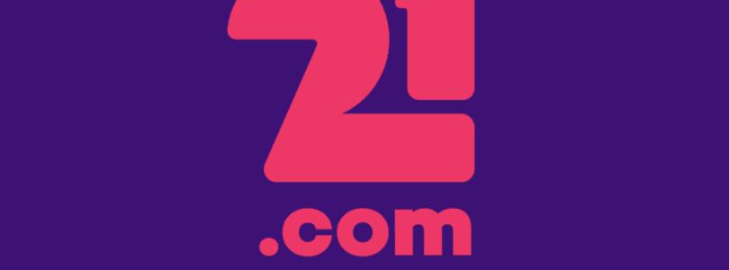21.com Casino logo vierkant