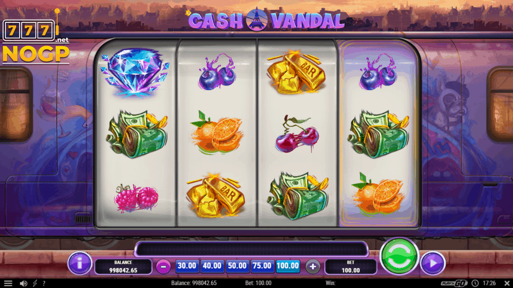 Cash Vandal slot screenshot
