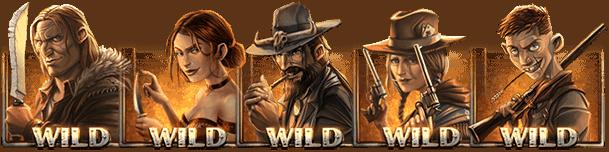 Dead or Alive 2 gokkast - Wild symbolen