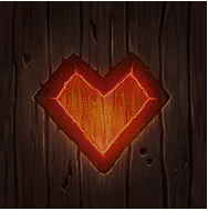 Dwarf Mine video slot - Heart symbol