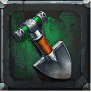 Dwarf Mine video slot - Shovel symbol