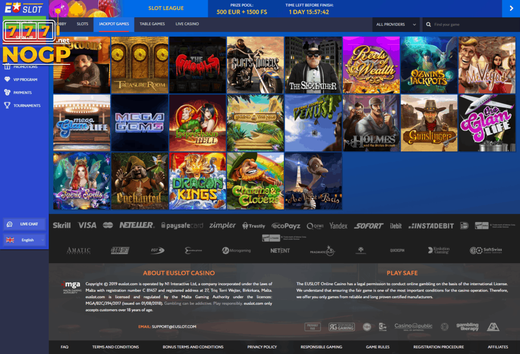 EUSlot Casino screenshot