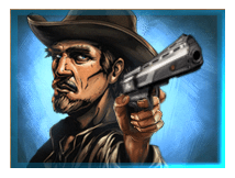 Golden Colts video slot - Sheriff symbool