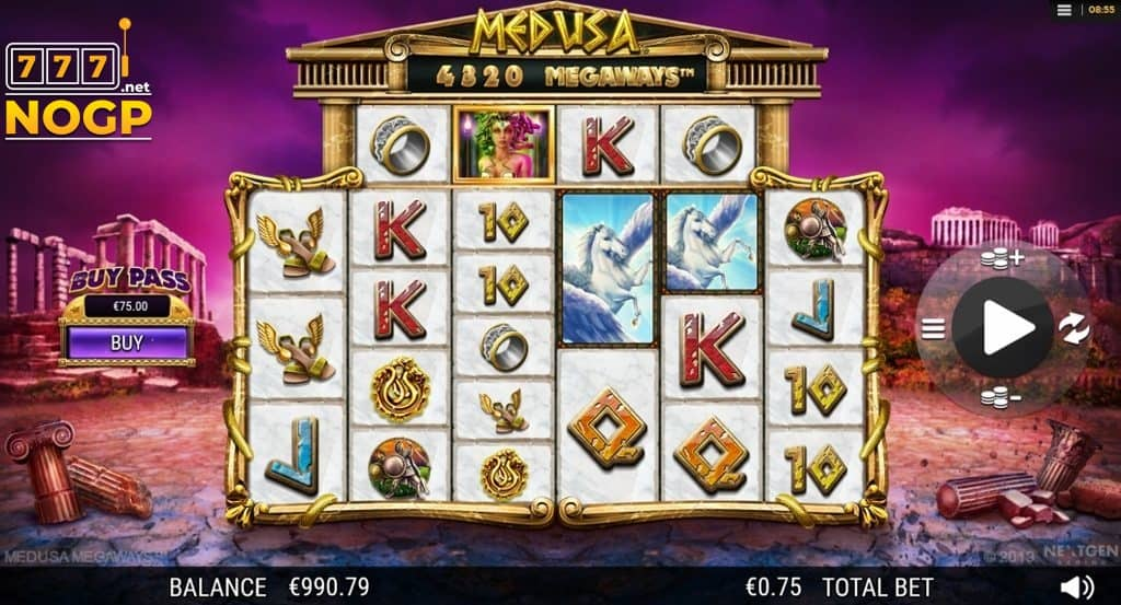Medusa Megaways video slot screenshot