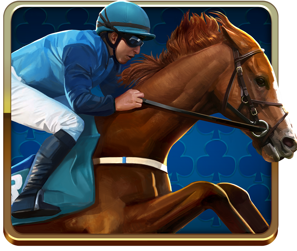 Scudamore's Super Stakes video slot - Blue Runner symbol