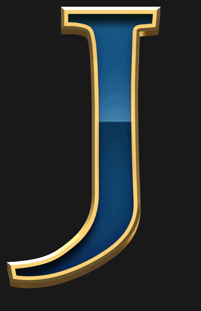Scudamore's Super Stakes video slot - J symbol
