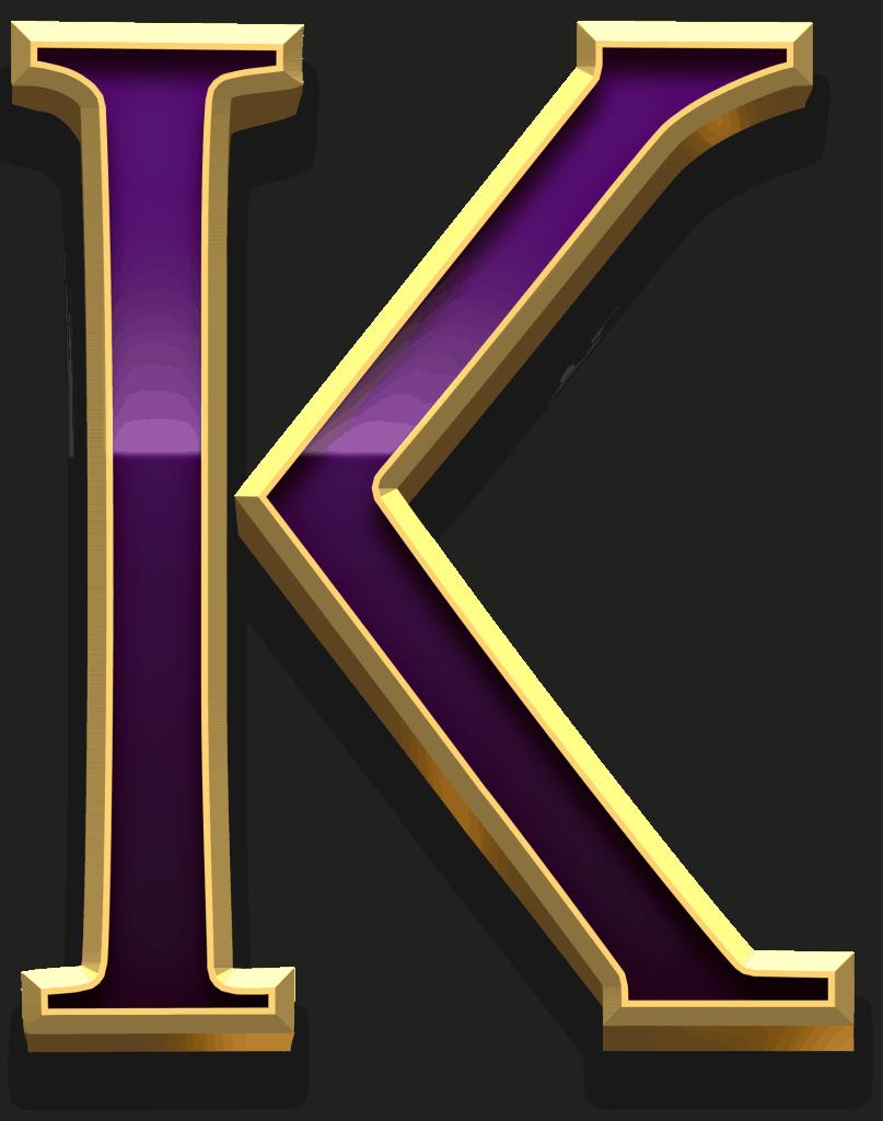 Scudamore's Super Stakes video slot - K symbol