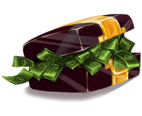 Spin Town video slot - Suitcase with Bills symbol