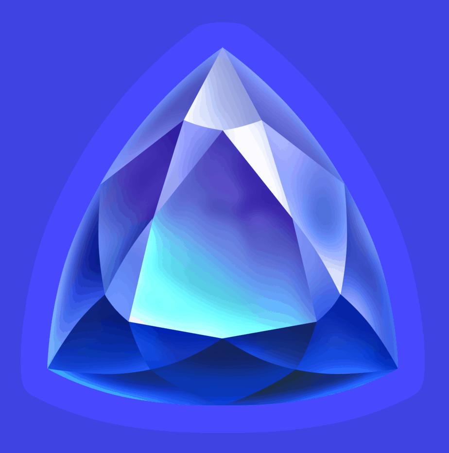 Starblast video slot - Blue gem symbol