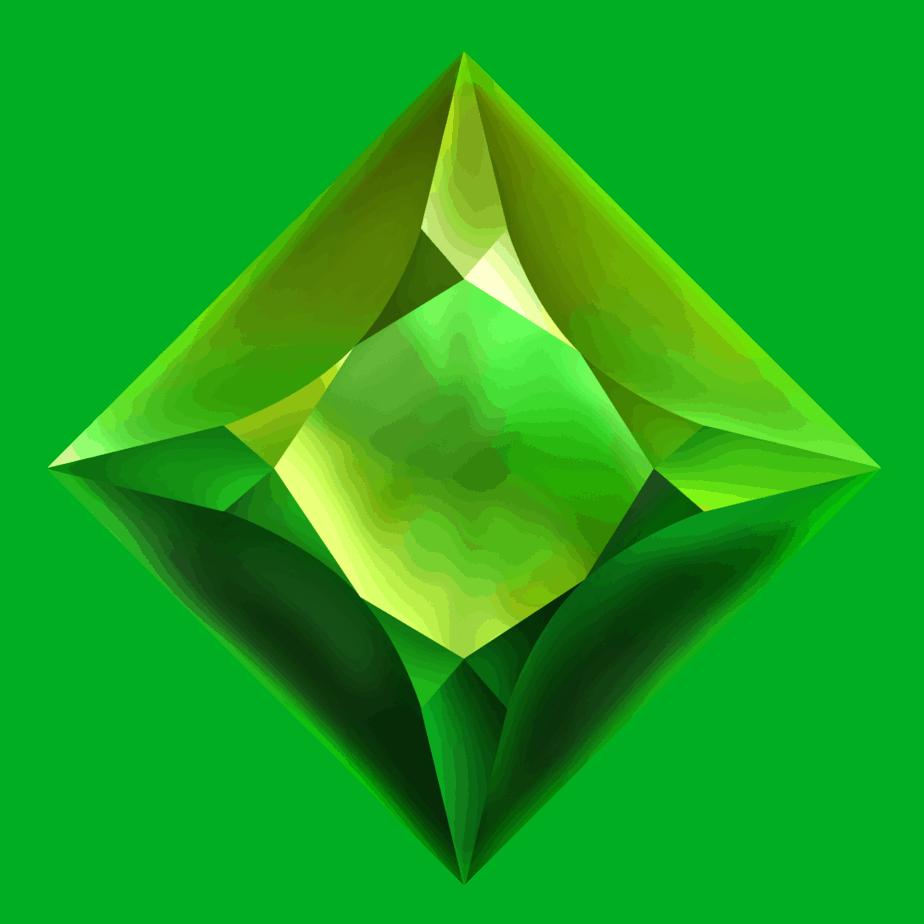 Starblast video slot - Green gem symbol