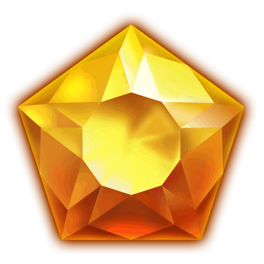 Starblast video slot - Orange gem symbol