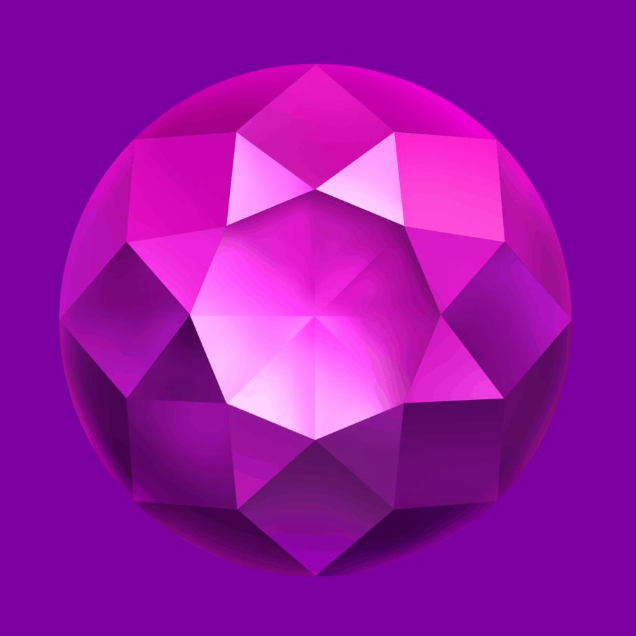 Starblast video slot - Purple gem symbol