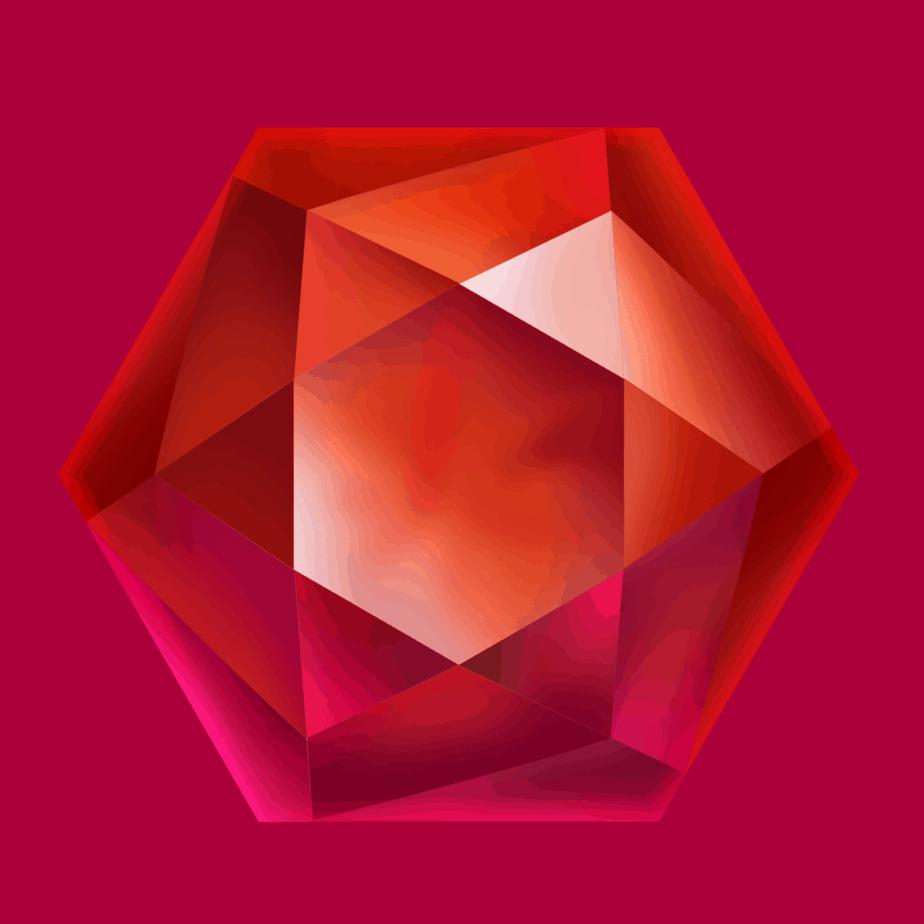 Starblast video slot - Red gem symbol