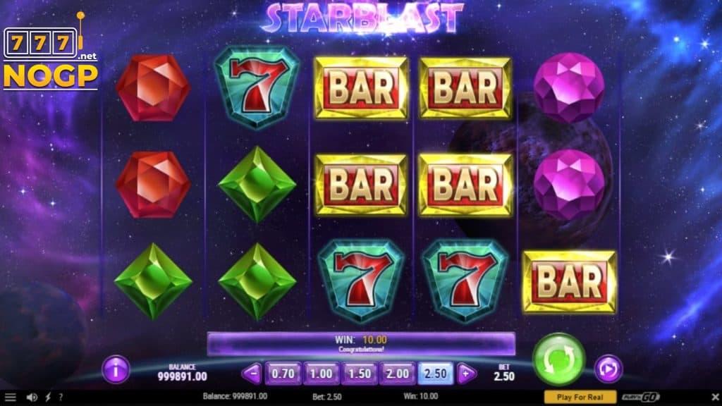 Starblast video slot screenshot