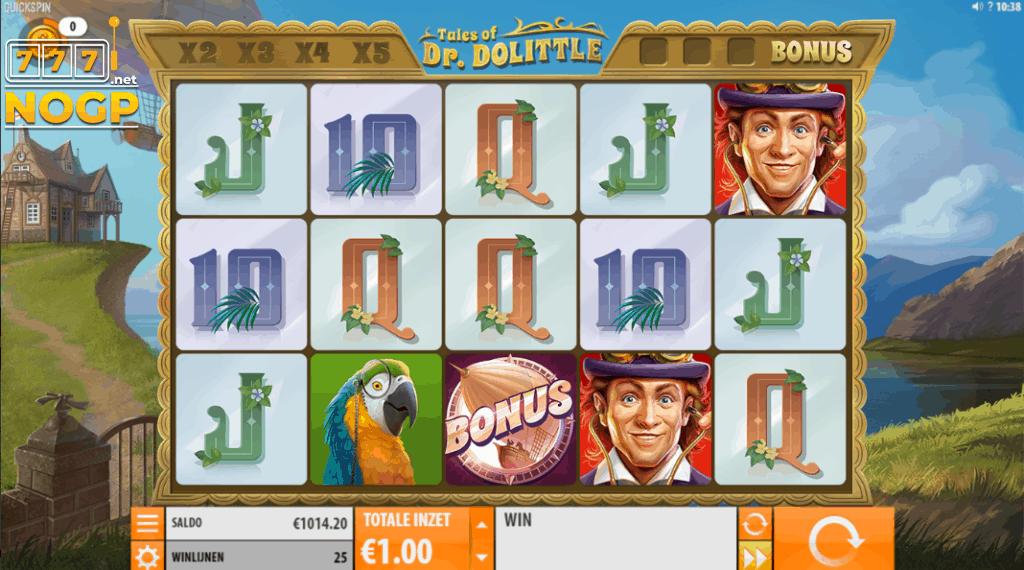 Tales of Dr. Dolittle video slot - basisspel