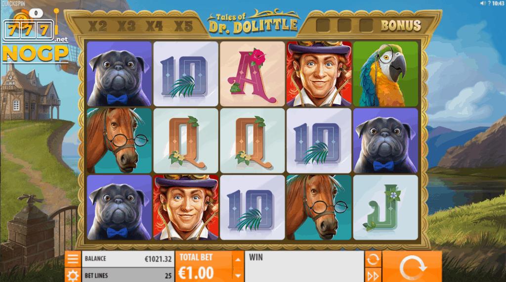 Tales of Dr. Dolittle slot - Main game screenshot