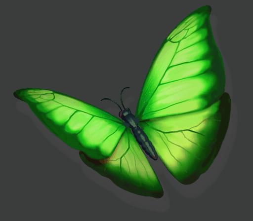 The Legend of Shangri-La Cluster Pays slot - Butterfly symbol