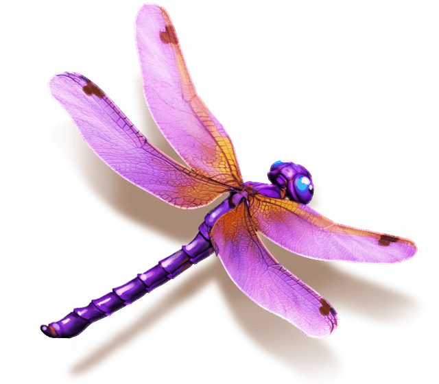 The Legend of Shangri-La Cluster Pays slot - Dragonfly symbol
