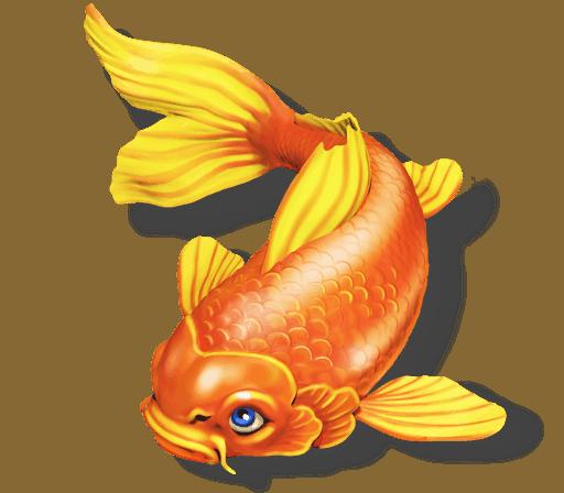 The Legend of Shangri-La Cluster Pays slot - Fish symbol