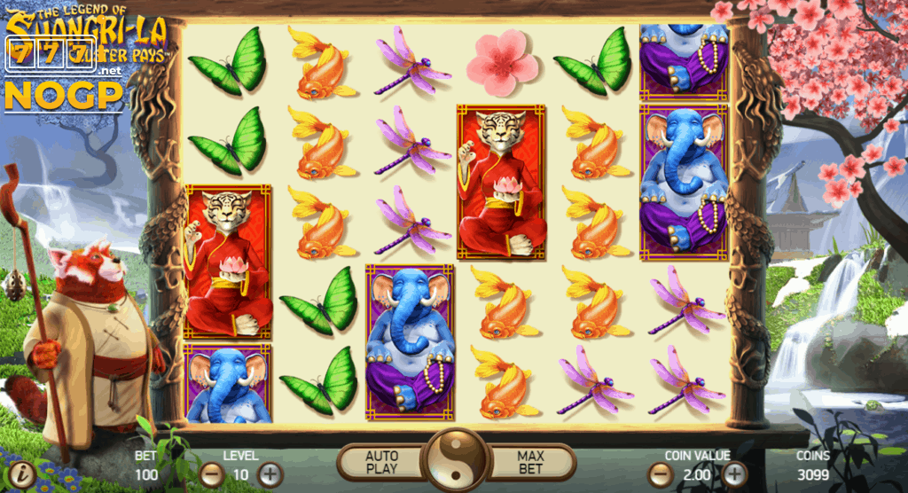 The Legend of Shangri-La slot screenshot