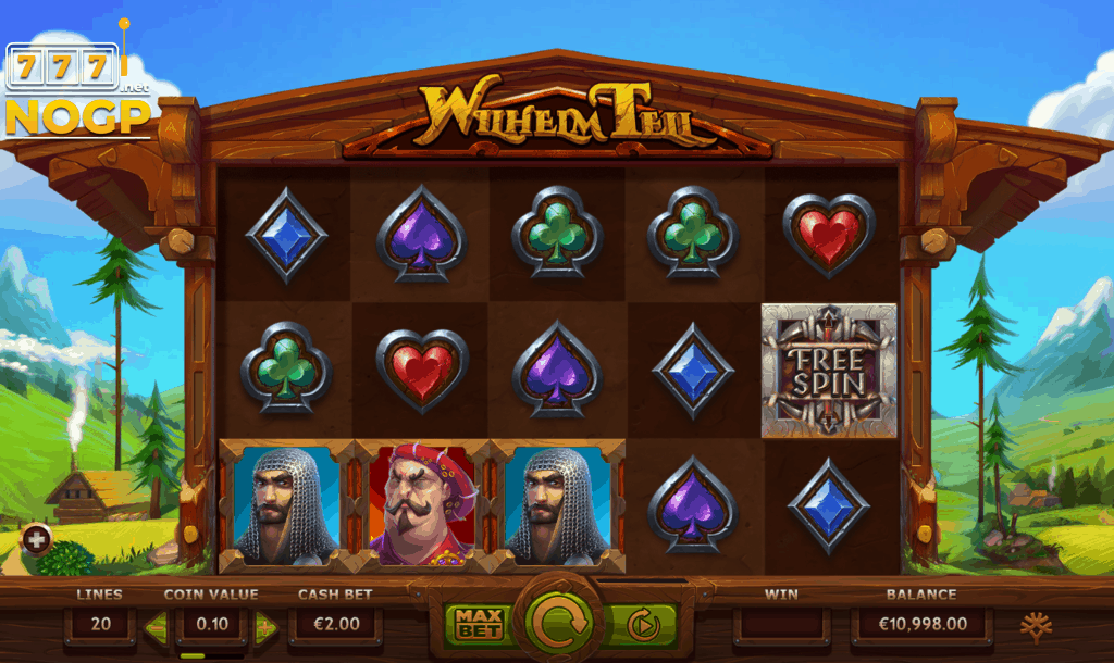 Yggdrasil's Wilhelm Tell video slot screenshot main game