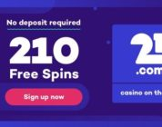 21.com: Begin april 2019 met 210 gratis spins zonder storting.