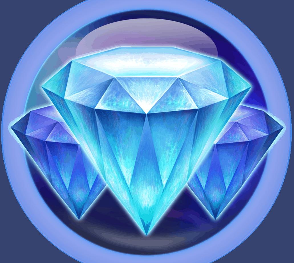 Crystal Sun video slot Play'n GO - Kristal symbool