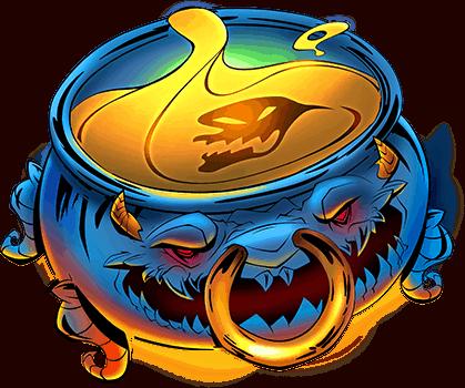 Devil's Number video slot Red Tiger - Cauldron symbol
