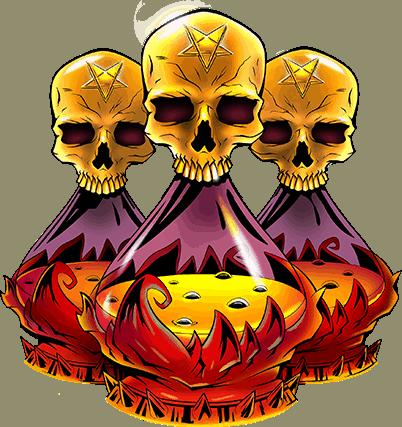 Devil's Number video slot Red Tiger - Skull symbol
