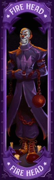 Dr Fortuno video slot - Fire Head symbol