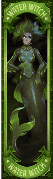 Dr Fortuno video slot - Water Witch symbol