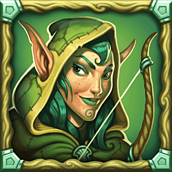 Dragon Horn video slot - Elf symbol