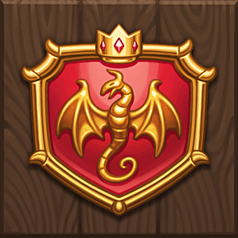 Dragon Horn video slot - Queen's Shield symbol