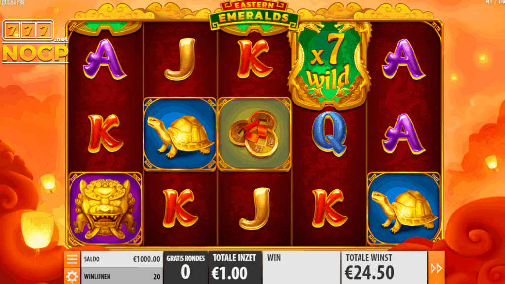 Eastern Emeralds slot - Gratis spins feature