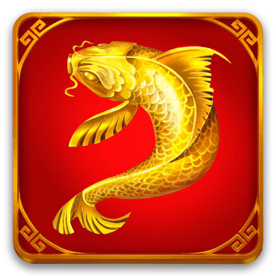 Eastern Emerald video slot - Gouden karper symbool