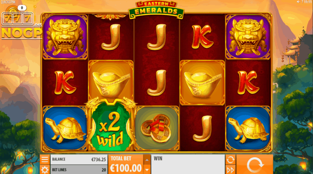 Eastern Emeralds slot - main game screenshot