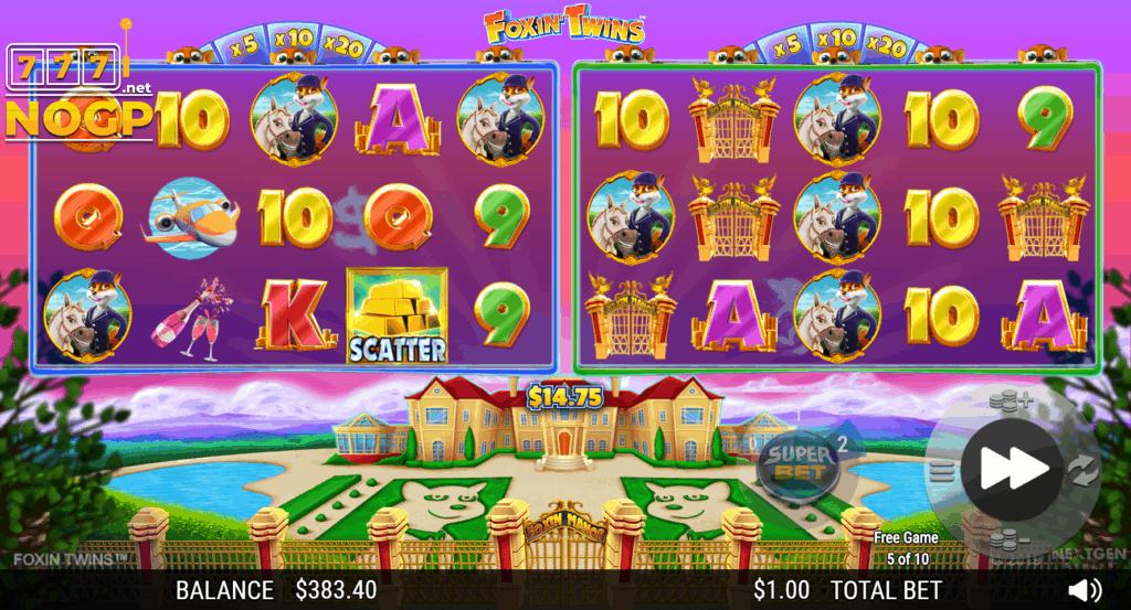 Foxin' Twins Team Pup Free Games feature screenshot