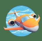 Foxin' Twins video slot - Plane symbol