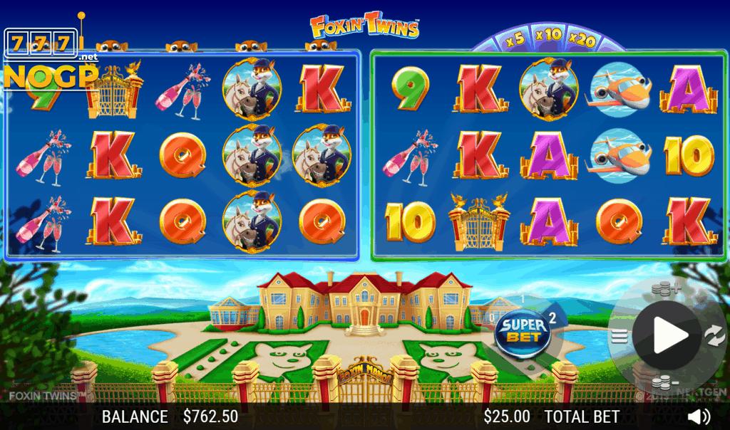 Foxin´ Twins video slot - screenshot