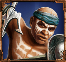 Game of Gladiators video slot - Rectiarius symbol