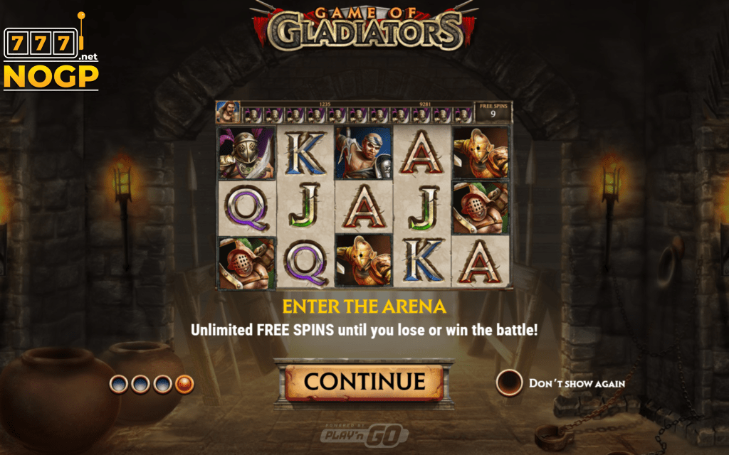 Game of Gladiators - Enter the Arena feature
