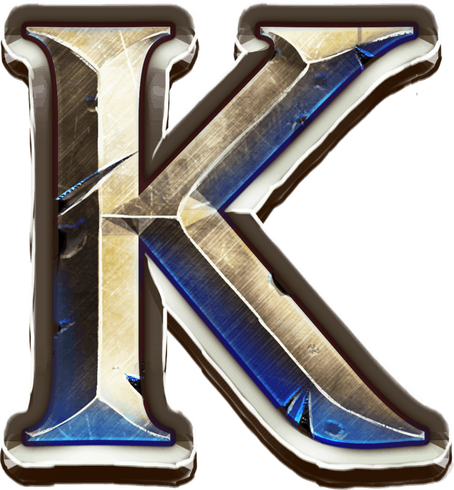 Game of Gladiators video slot - K symbol