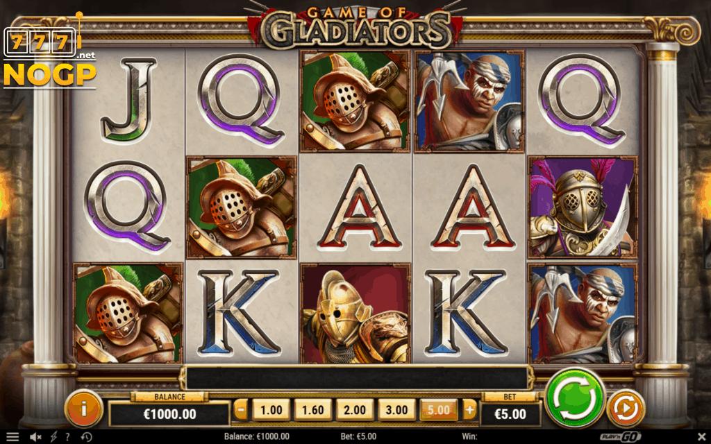 Game of Gladiators video slot - basisspel screenshot