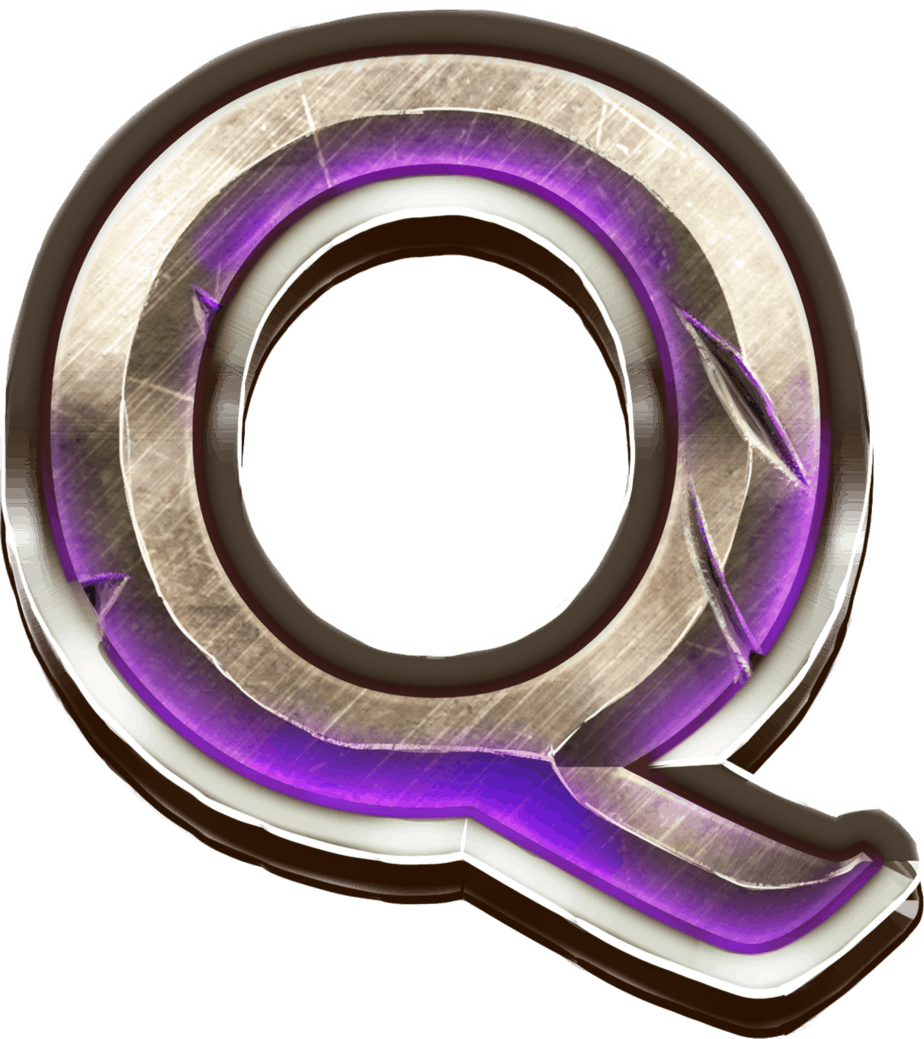 Game of Gladiators video slot - Q symbol