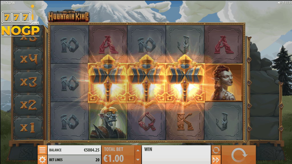 Hall of the Mountain King slot Quickspin - screenshot