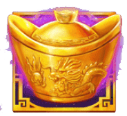 Mega Dragons video slot - Golden pot symbol