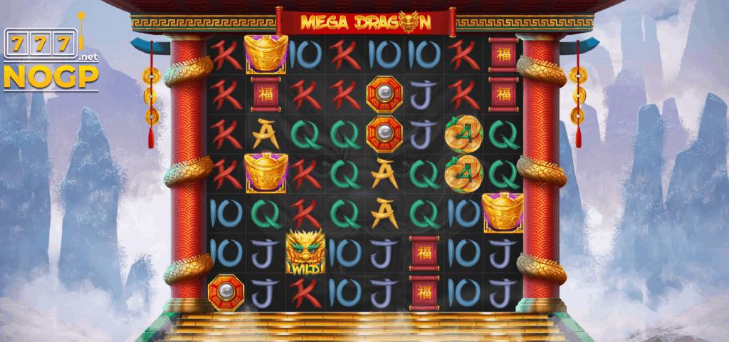 Mega Dragons slot Red Tiger Gaming screenshot