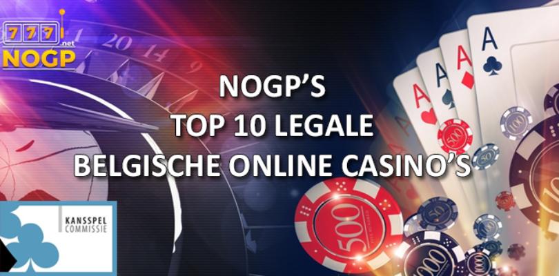 NOGPs top 10 geaccrediteerde online casino's met licentie van de Belgische Kansspelcommissie.