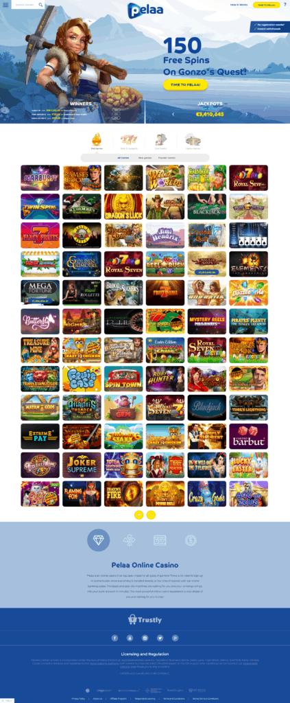Pelaa Casino popular games screenshot